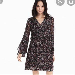 White house black market print BoHo dress